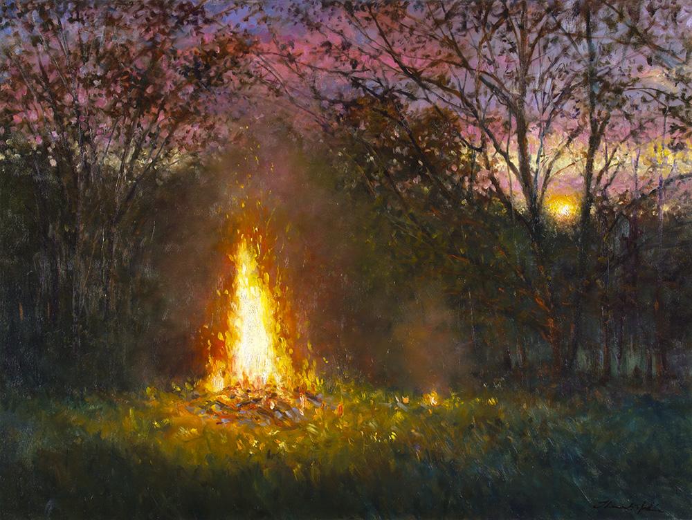 FIRE AT SUNSET 2011 30x40 JMG15958