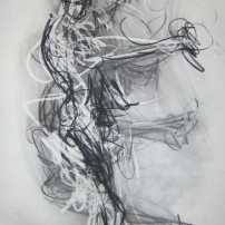 Plansky Dancer #28 37x23 charcoal on paper